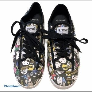 Feiyue x Peanuts gang sneaker style shoes Size 8